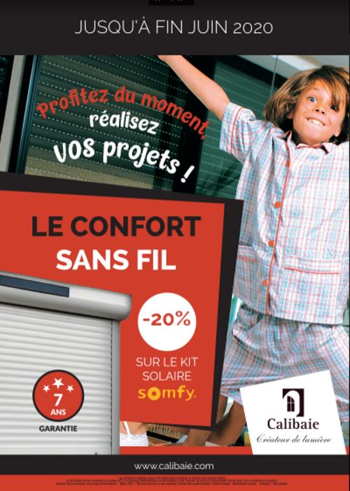 -20% sur le kit solaire SOMFY / Offre CALIBAIE