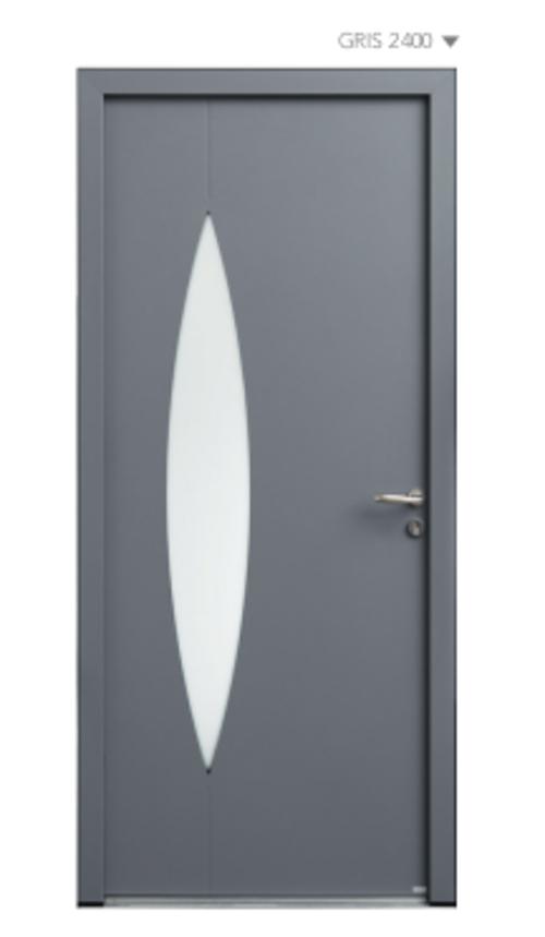 BEL''M-Expérience - Porte d''entrée sobre couleur grise - Aluminium