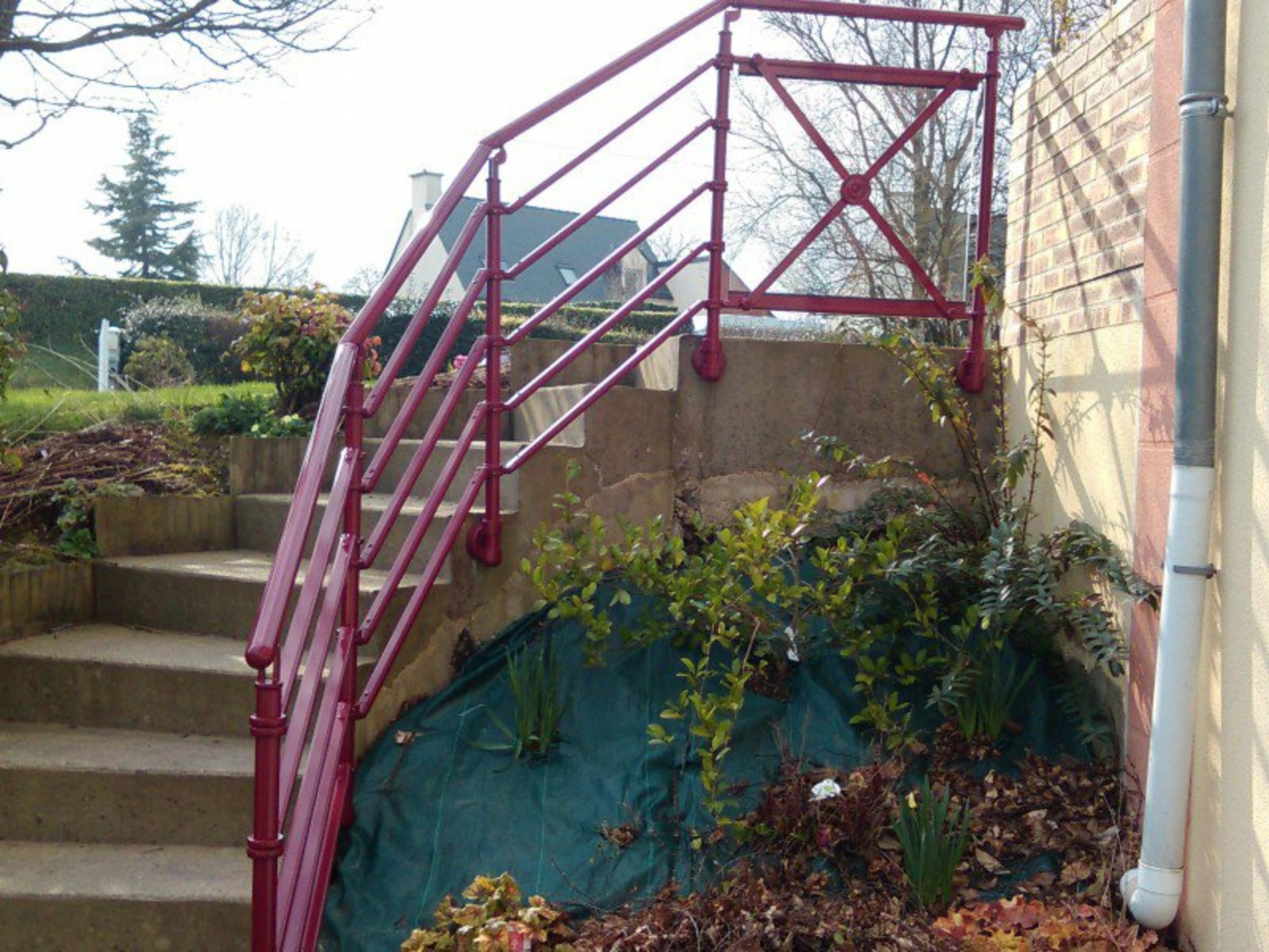 Garde-corps en aluminium pour escalier