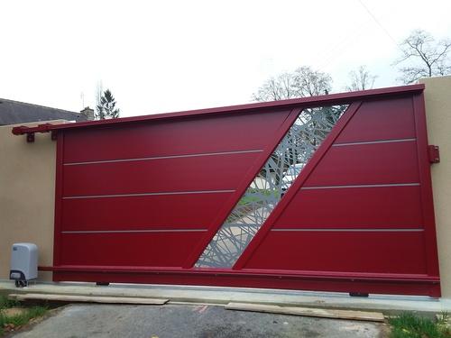 Portail de clôture en aluminium - Secteur Plémy