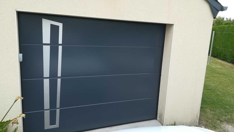 Porte de garage et porte d'entrée - Hillion (22) portegaragehillion
