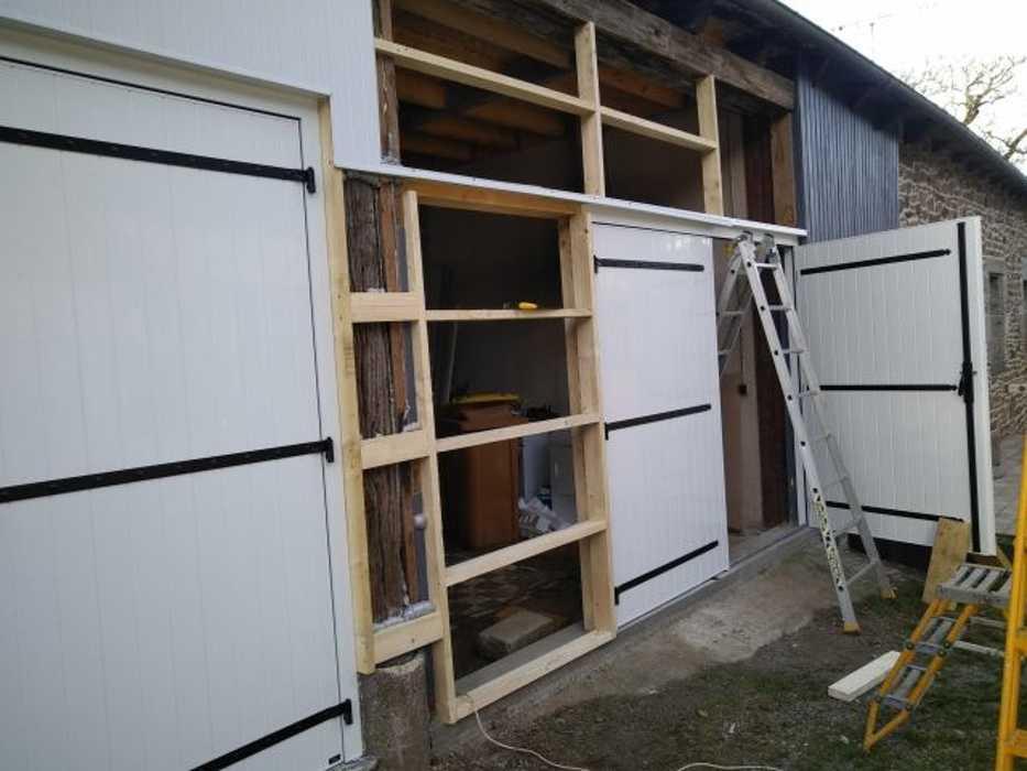 Portes de garage battantes PVC et bardage - St Brandan 3lagrandstbrandanpgbardagependant