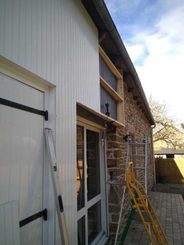 Portes de garage battantes PVC et bardage - St Brandan 4legrandstbrandanpgbardagependant